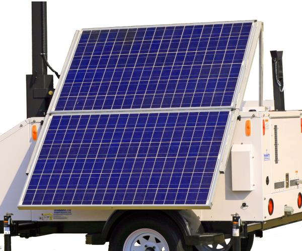 Solar Panel Option for Camera Trailer