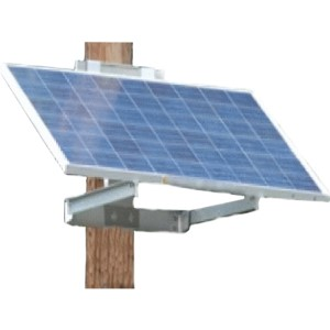 Solar Panel for Pole Mounted Security Camera System