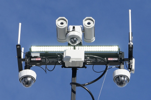 Camera Trailer Top Mast Lights Cameras