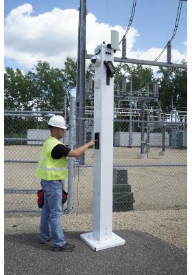 Gate Sentry Surveillance Camera System at Utility Sub-Station