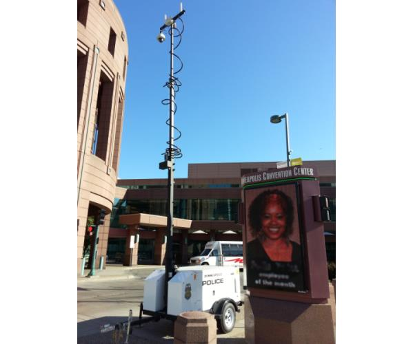 Event Video Monitoring with Mobile Surveillance Trailer