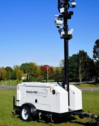 License Plate Recognition Camera System on Commander 3400 Mobile Surveillance Trailer