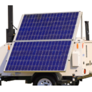 Solar Panel for Mobile Surveillance Trailer