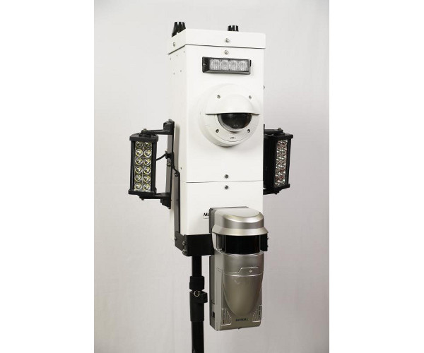 Power Sentry Pole Mounted Security Camera System with OPTEX REDSCAN RLS-3060SH Laser Scan Detector