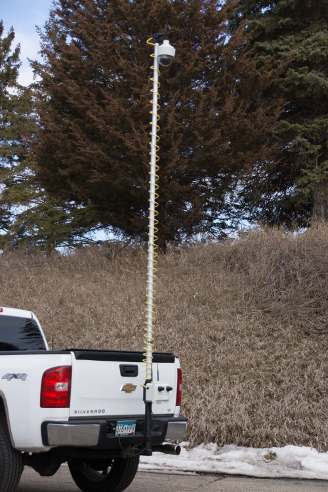 Portable Surveillance Camera System Hitch Sentry Extended