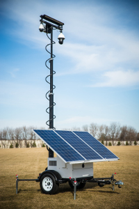 MPS Falcon 3100 Mobile Surveillance Trailer with Solar Panel