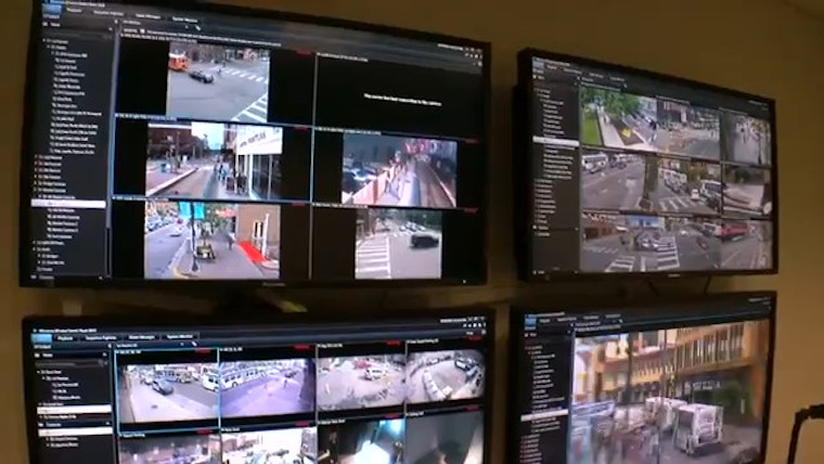 Citywide surveillance provides real-time situation updates for law enforcement and emergency responders.