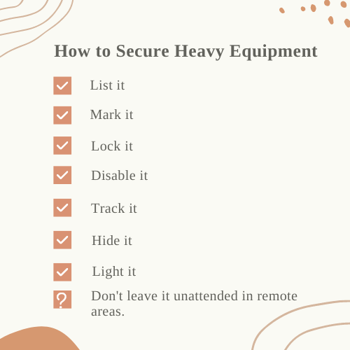 How to Secure Heavy Equipment