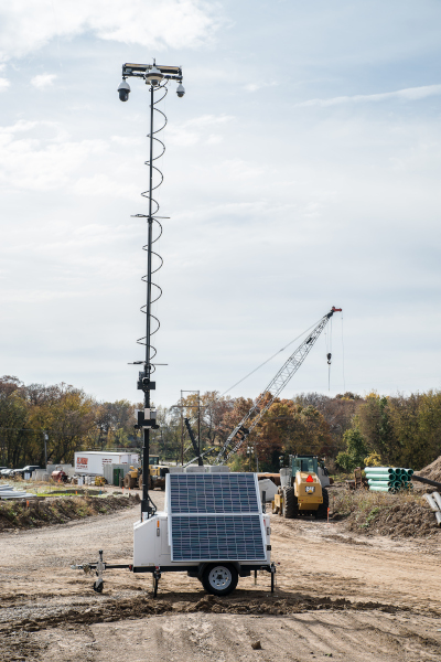 MPS 3400 with Solar at Excavation Site