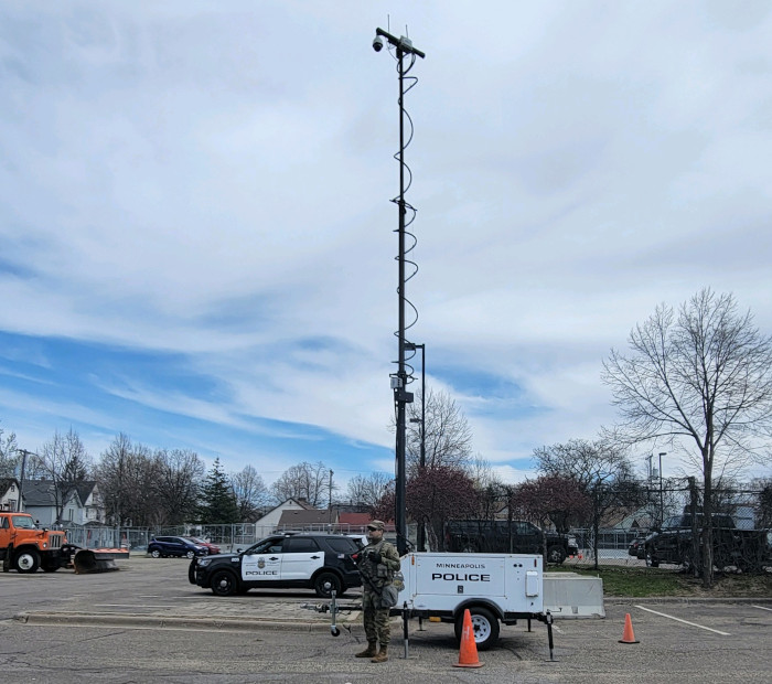 Minneapolis Precints Deploy MPS Camera Trailers During Protests